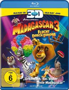 Madagascar 3: Flucht durch Europa (+ Blu-ray + DVD) [Blu-ray 3D] @Amazon