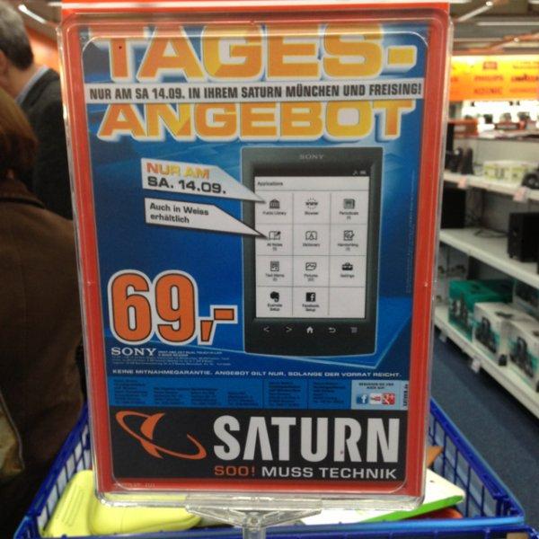 Lokal: Sony PRS-T2 Reader Saturn München und Freising 69.-