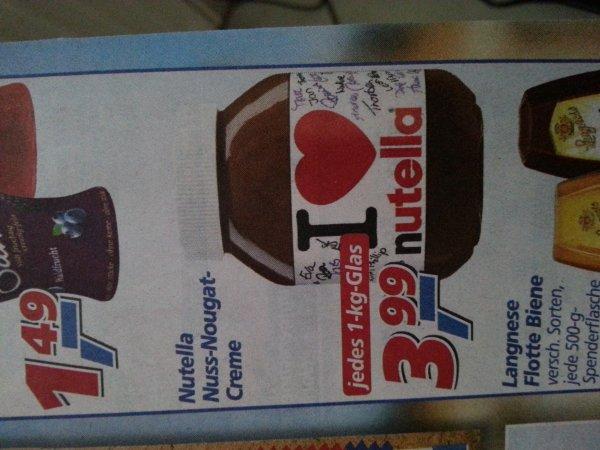 1kg Glas Nutella im Angebot bei Real für 3,99€