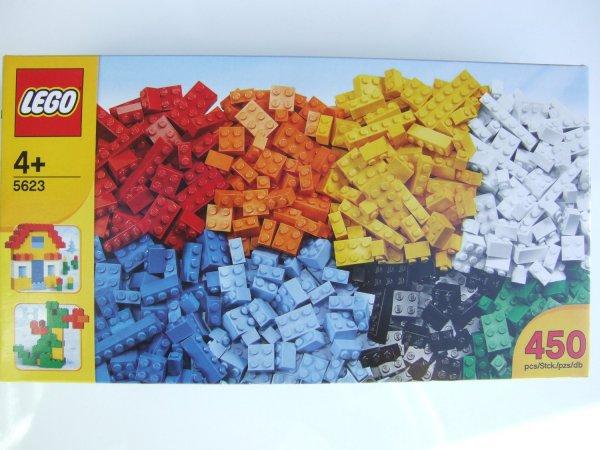[ LOKAL Marktkauf ]  LEGO 5623 - Bunte Steinebox Grundbausteine 450 Stk  9,99€