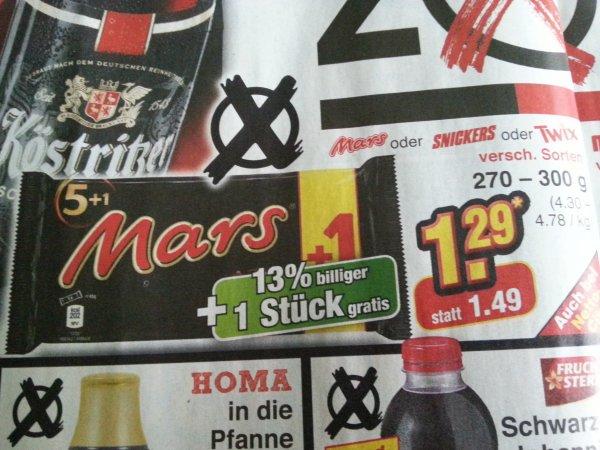 Mars/Snickers/Twix 5+1 @Netto o. Hund 1,29 Euro