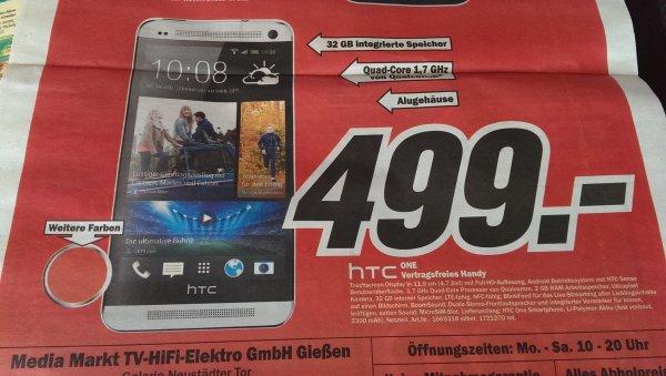[Lokal MM Gießen] HTC One Silber & Glamour Red für 499€