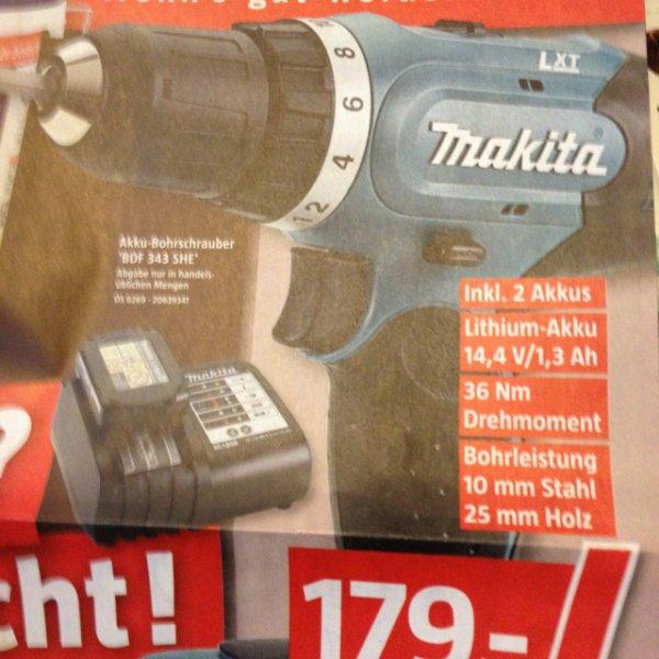 Makita 14,4v im Bauhaus +2akkus 179,-