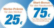 75 Euro für die Kontoeröffung für einen neuen Kunde bei der Sparda-Bank BW