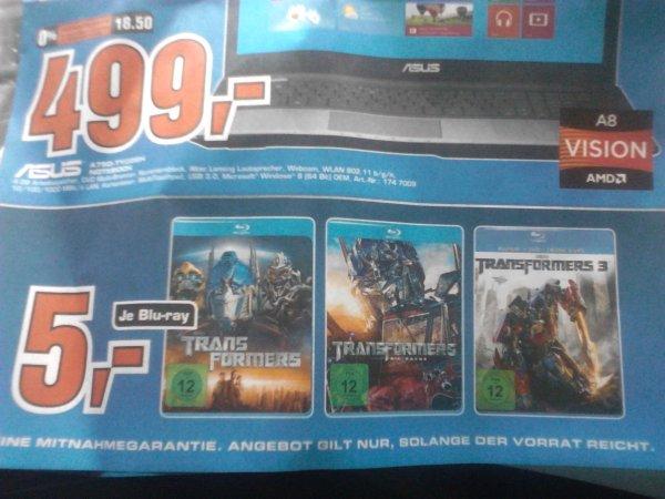 Transfomers 1-3 Blu-ray je 5 € Saturn Lokal Berlin