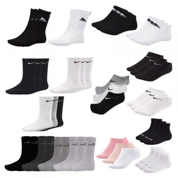 Adidas Puma Nike, Strümpfe Socken, 9er Pack, Sneaker, 19,99 Euro @ ebay