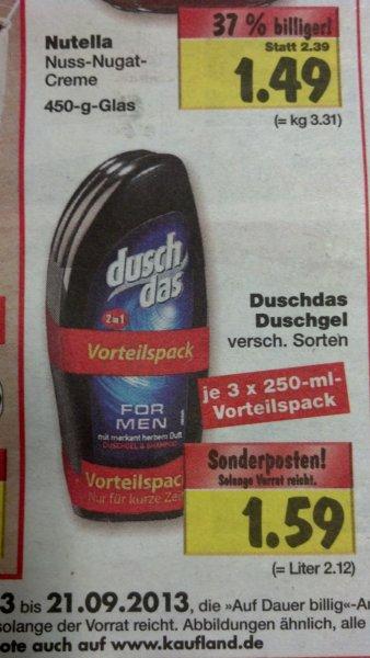 3er Pack Dusch Das verschiedene Sort. 1,59€ bei Kaufland lokal?(Berlin/Brandenburg)