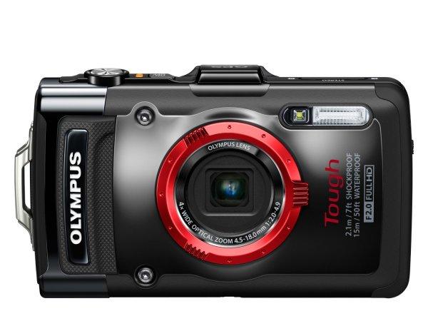 Olympus TG-2 Digitalkamera (12 Megapixel CMOS-Sensor, 4-fach opt. Zoom, 7,6 cm (3 Zoll) OLED-Display, F2,0 Objektiv, GPS, wasserdicht bis 15 m, kälteresistent, staub-, stoß und bruchgeschützt) schwarz o. Rot inkl. Vsk für ca. 298 € @ Amazon.uk