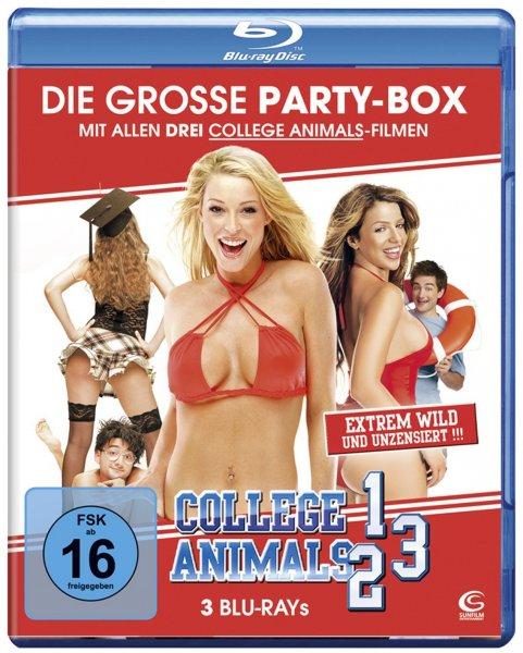 Die große Partybox:  (3 Blu-rays: Sammeledition College Animals 1-3) @ Amazon.de
