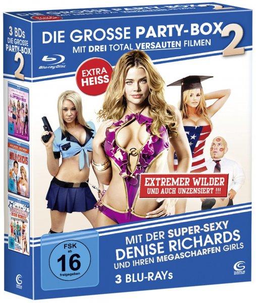Die große Partybox 2 (3 Blu-rays: American High School, Wild Chicks, Im tiefen Tal der Superbabes) @ Amazon.de
