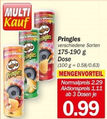 [HIT-Märkte]: 1 Dosen Pringles  verschiedene Sorten für nur 1,11€  (ab 3x für je 0,99 ) in KW38