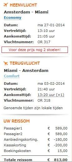Ticket Sale bei ArkeFly, z.B. Miami für 369 EURO von Amsterdam 7.-14.Oktober