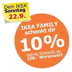 [IKEA Köln Butzweiler Hof] ab 100.- eine Aktionskarte über 10% des Warenwertes