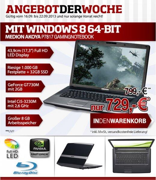 Notebook  Medion AKOYA P7817 MD98394