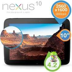 [iBOOD] Google Nexus 10 WiFi 16GB (2012er, US-Version + Adapter) für 345,90€