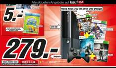 (Lokal NRW) Xbox 360.E (im Xbox One Design) mit 250GB im Bundle: 1 Controller, GTA 5, Fifa 14, Halo 4, Tomb Raider @Media Markt