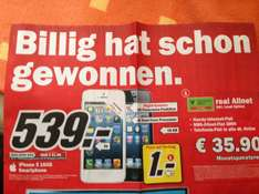 Media Markt [Lokal NRW ?] iPhone 5 für 539€