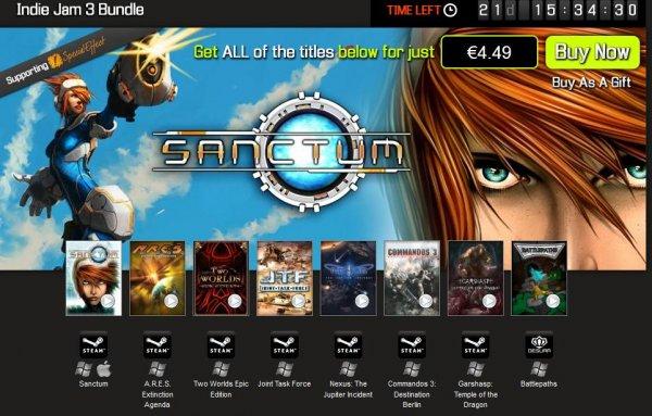 [Steam] [Bundle Stars] Indie Jam 3 Bundle[ 7 Steam Spiele im Wert von 58,93€ für 4,49€]+1 Desura Spiel