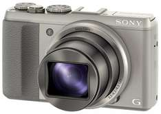 Sony DSC-HX50 Digitalkamera (20,4 Megapixel, 30-fach opt. Zoom, 7,6 cm (3 Zoll) LCD-Display, Full HD, WiFi) inkl. 24mm Sony G Weitwinkelobjektiv silber für 285€ @Amazon