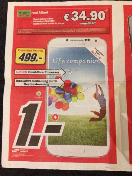[Lokal Bremen] Samsung Galaxy S4 + Allnet Flat D2-Netz