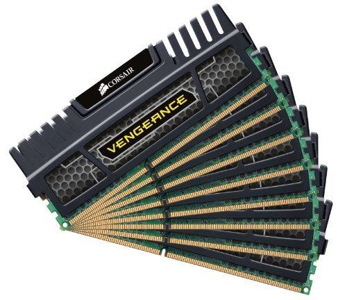 Corsair Vengeance Schwarz 32GB (8x4GB) DDR3 1600 MHz (PC3 12800) Desktop Arbeitsspeicher (CMZ32GX3M8X1600C9) für 37,46€ inkl. Versand@ Amazon.it