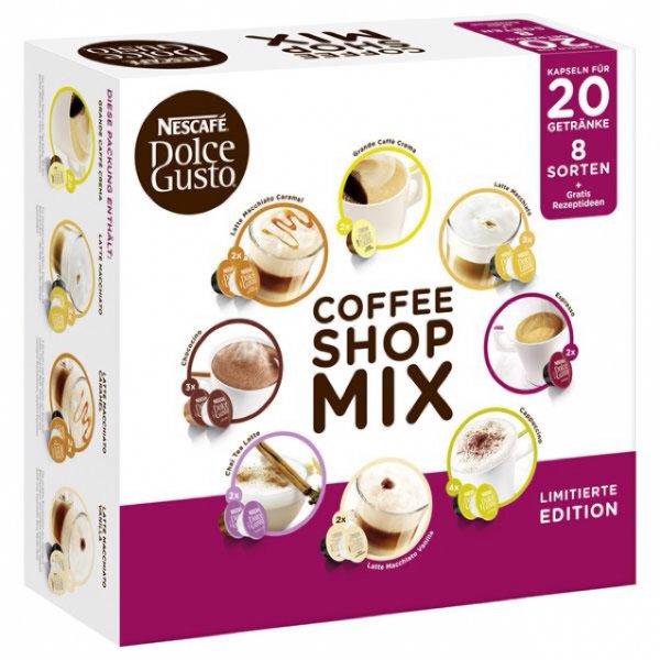 @Ebay, Nescafé Dolce Gusto Kapseln, Vielfaltbox mit 20 Kapseln für nur 4,99€ inkl. Versand
