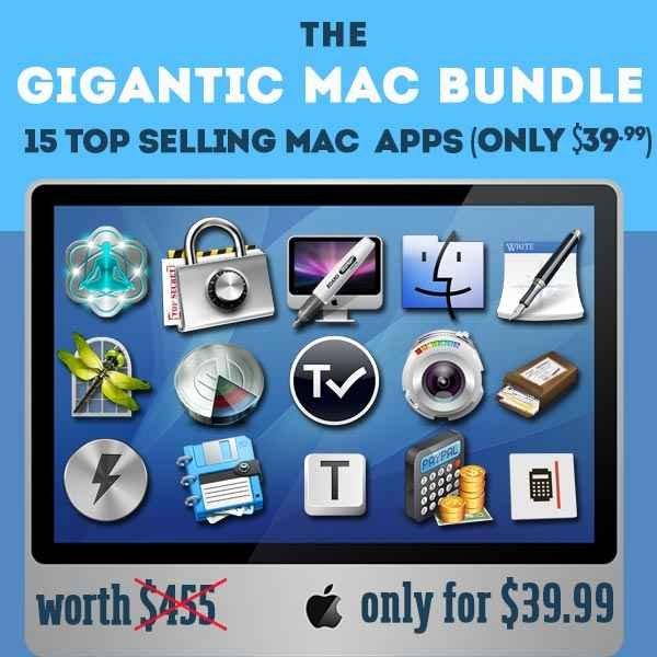 (MAC) Das Gigantic Mac Fall Bundle mit 15 Apps für umgerechnet 29,90€ – 91% Ersparnis