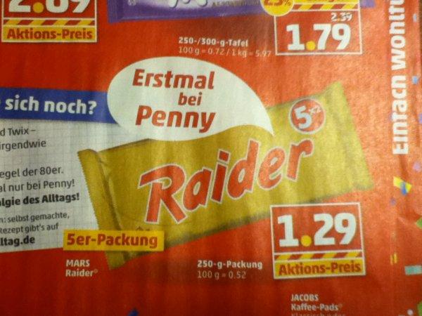 [Lokal? HH für Nostalgiker]  Raider 5x2 für 1,29 bei Penny