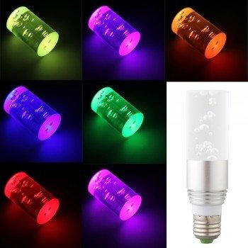 E27 LED RGB Farbwechsel Leuchte mit Fernbedienung für 11,08€