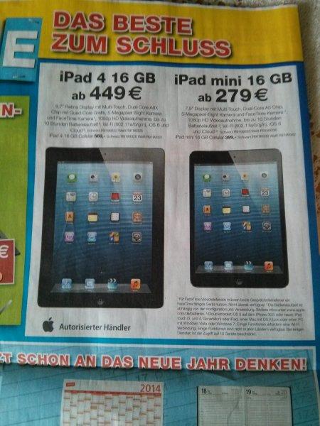 iPad Mini 16 GB bundesweit bei Staples 279 EUR