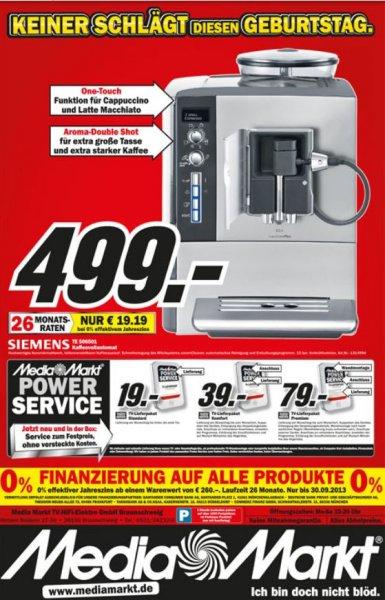 499€ Siemens Te 506501 Kaffeevollautomat Media Markt Braunschweig