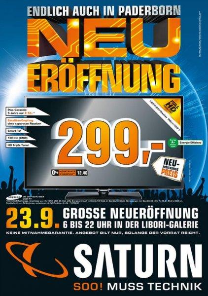 [Lokal Paderborn] Saturn Neueröffnung (z.B. Samsung UE39F5370SSX für 299€)