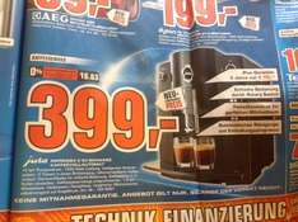(Lokal - PB) Saturn jura Impressa C 50 Schwarz 399.-
