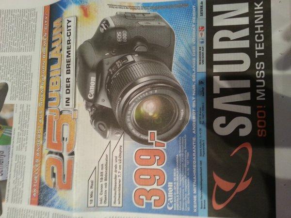 [SATURN / Bremen-City] Canon 600 D + EF-S 18-55 IS