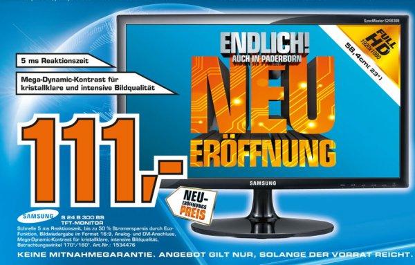 [ LOKAL Saturn Paderborn ]  Samsung SyncMaster S24B300B 24 Zoll   111€