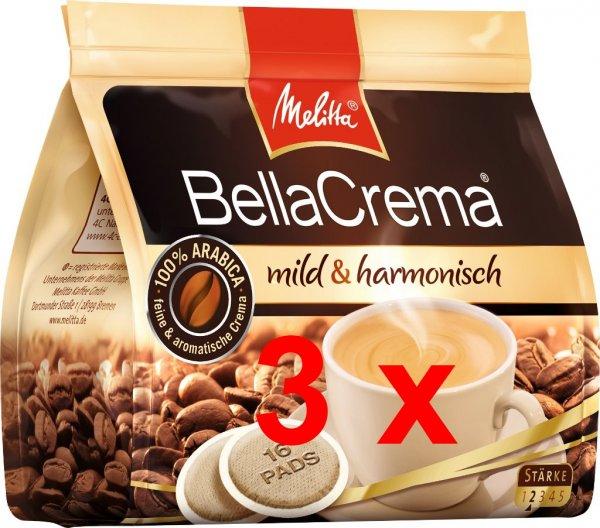 [Lokal Duisburg Stadtmitte] Melitta Bella Crema 16 Pads, 3 Pakete für 4 €