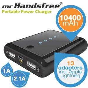mr Handsfree Universal Portable Power Charger 10400 mAh - Tragbares (Smartphone-)Ladegerät! für 45,90€