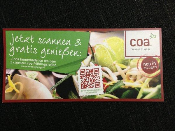 [Lokal Stuttgart/Frankfurt] Gratis ice tea oder Frühlingsrolle bei coa