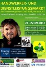 Köln Rath/Heumar : 22.9 um 16 Uhr - gratis Konzert von Tommy Engel & The Wanderer