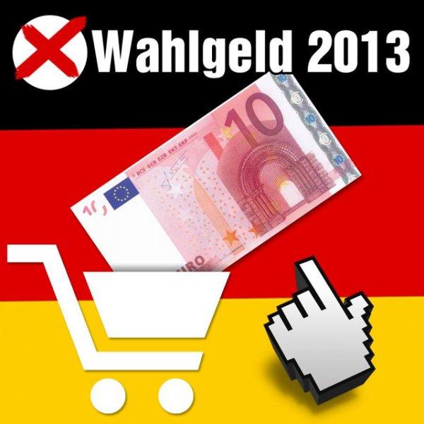 PEARL Wahlgeld 2013 10€ Gutschein 4x AA Eneloop ab 4,90