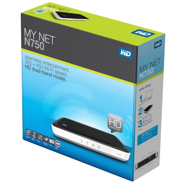 Saturn Online: WESTERN-DIGITAL My Net N750 Dualband HD-Router für 39 € bei Selbstabholung - Ersparnis: 28,14 €