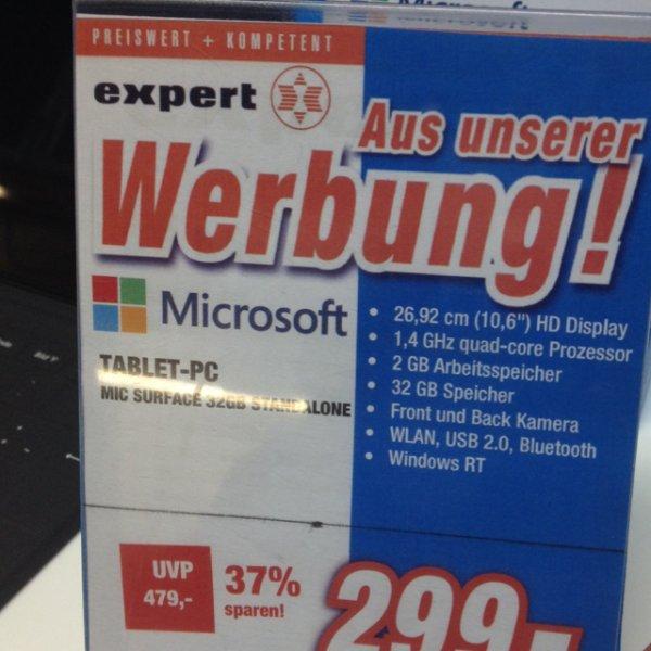 Surface RT für 299€ im expert