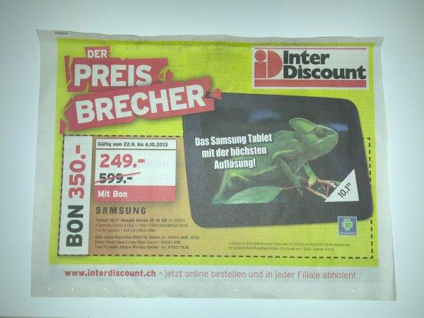 [Schweiz - Interdiscount] Nexus 10 - 16Gb für 289 Fr - 235 Euro!