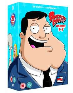American Dad! Volume 1-7 [21-Discs] mit O-Ton inkl. Vsk ca. 39 € @ Amazon.uk