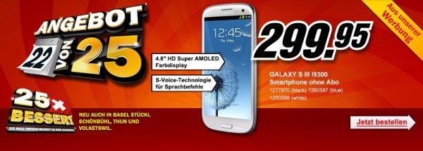SAMSUNG GALAXY S3 für umgerechnet 243 Euro