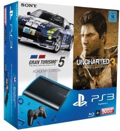 Playstation 3 (500 GB) mit Uncharted3 und GT5 für 233€ bzw. 225€ (287 CHF) [Lokal Schweiz]