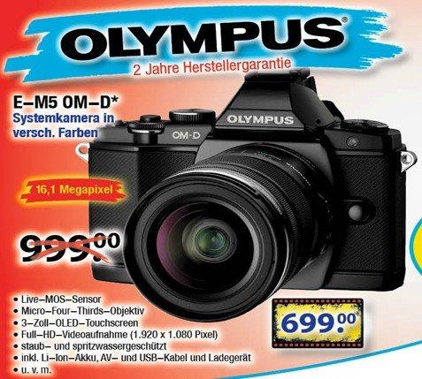 Olympus OM-D E-M5 Kit 12-50 mm Systemkamera [Lokal - Center SHOP]