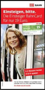 Die Einsteiger BahnCard 25 für nur 19 Euro