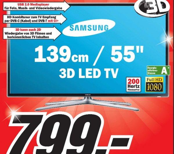 [ LOKAL MM Heppenheim ]  Samsung 55Zoll 3D LED-TV UE55F6100 für 799€