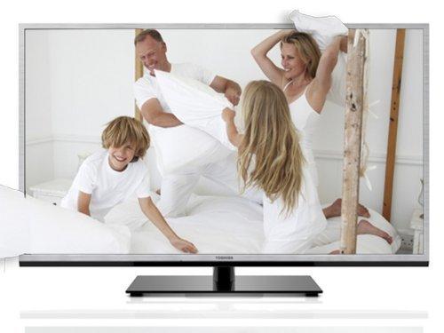 Toshiba 46TL938G 116,8 cm (46 Zoll) 3D LED-Backlight-Fernseher, EEK A+ (Full-HD, 200Hz AMR, DVB-T/C, CI+, DLNA, Web-TV) silber @AMAZON.DE